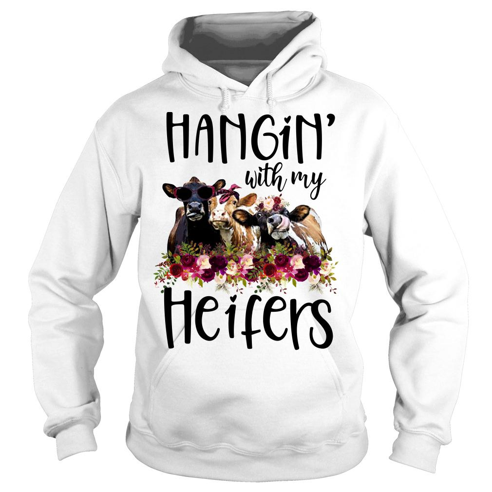 Hangin with my cow heifers Floral shirt hoodie