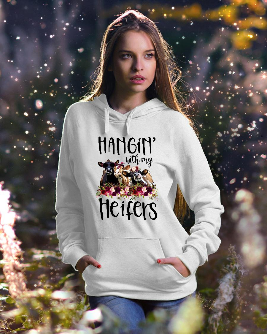 Hangin with my cow heifers Floral shirt hoodie unisex