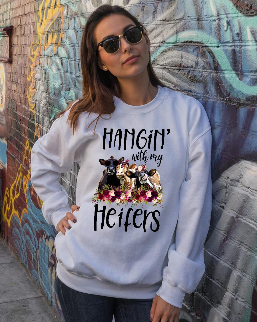 Hangin with my cow heifers Floral shirt sweater official