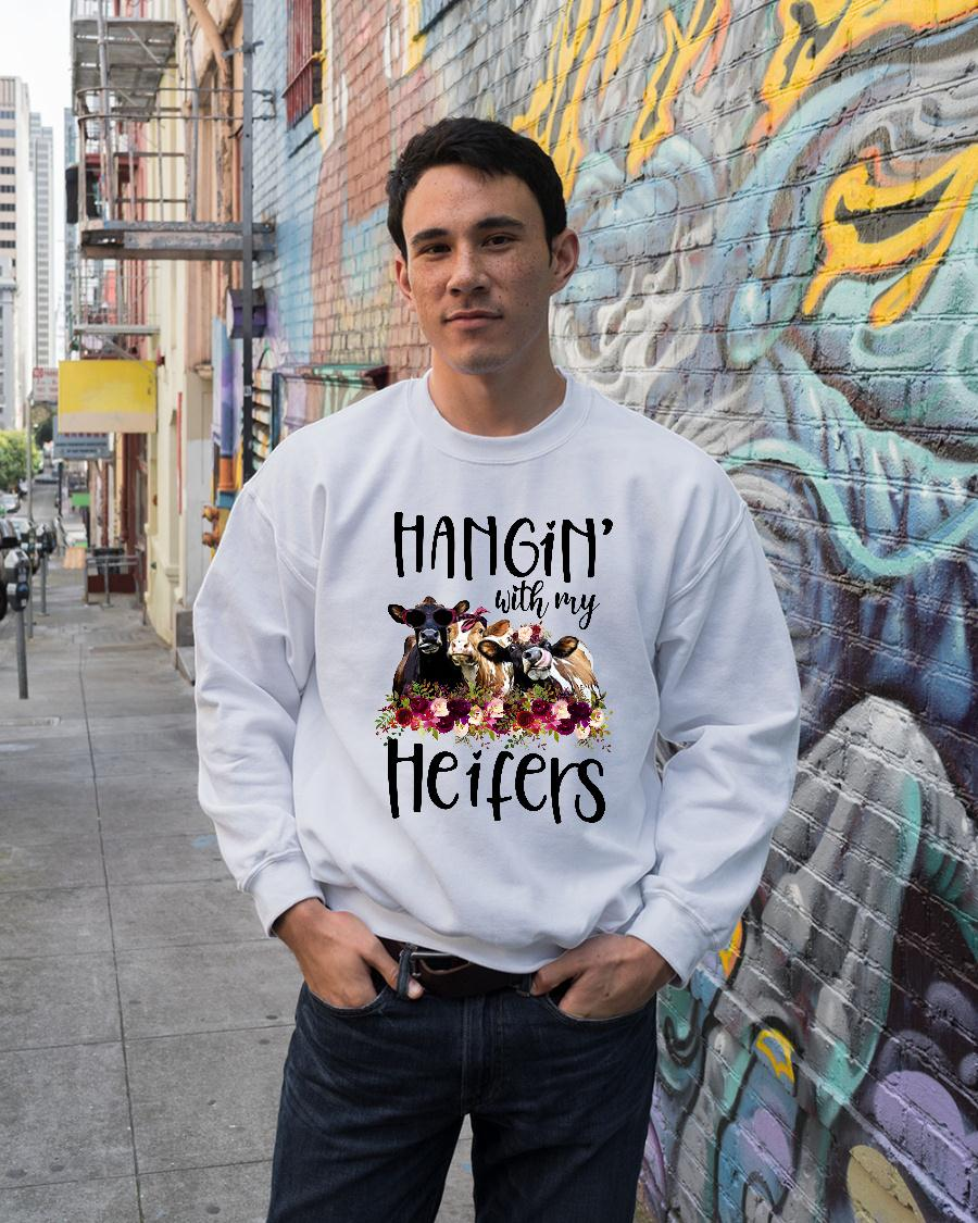 Hangin with my cow heifers Floral shirt sweater unisex