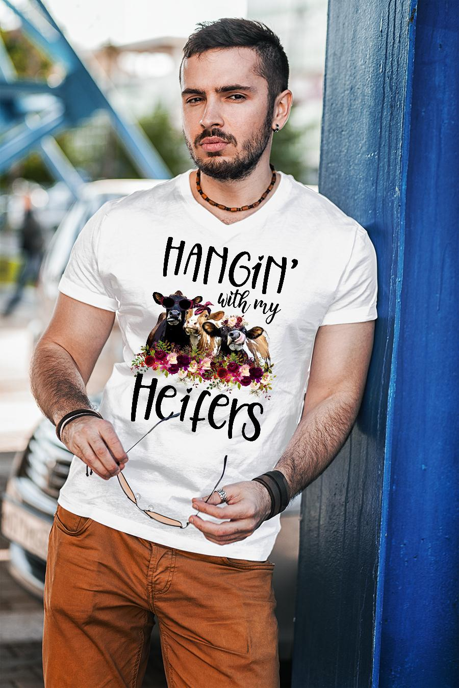 Hangin with my cow heifers Floral shirt unisex