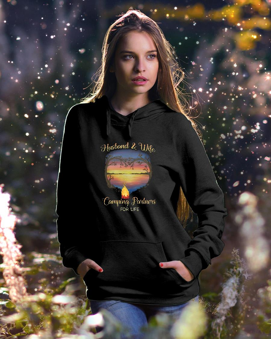 Husband and wife camping partners for life shirt hoodie unisex