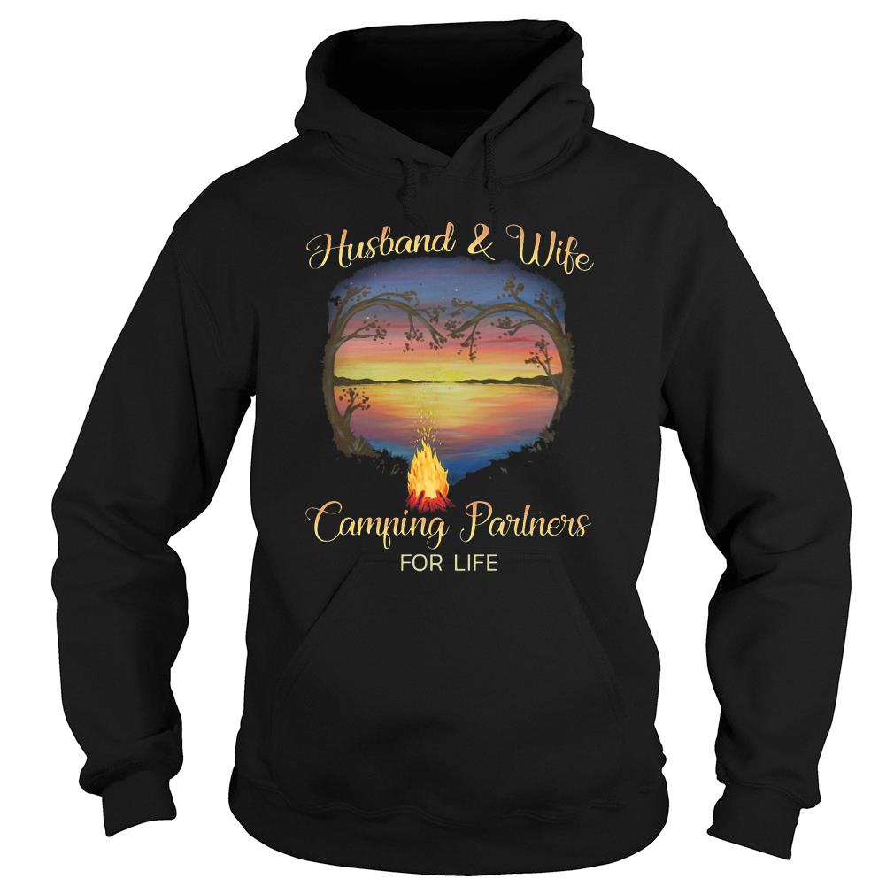 Husband and wife camping partners for life shirt hoodie