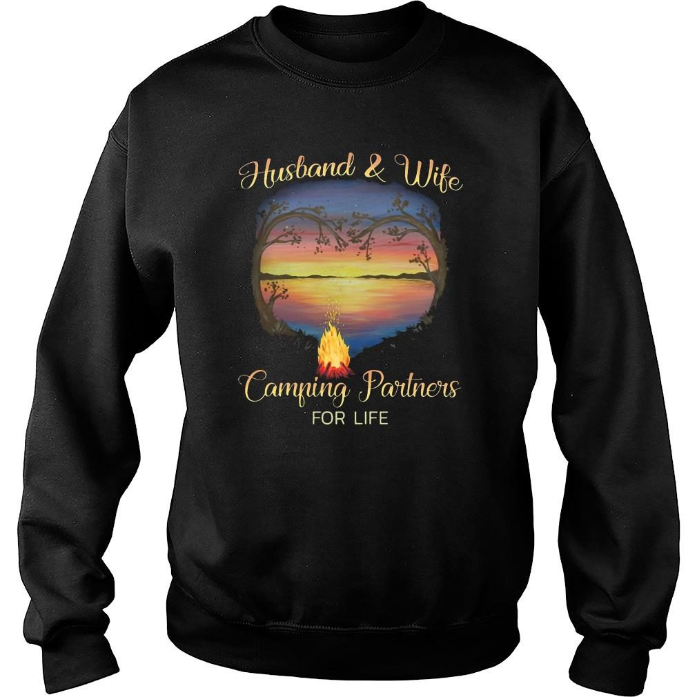 Husband and wife camping partners for life shirt sweater