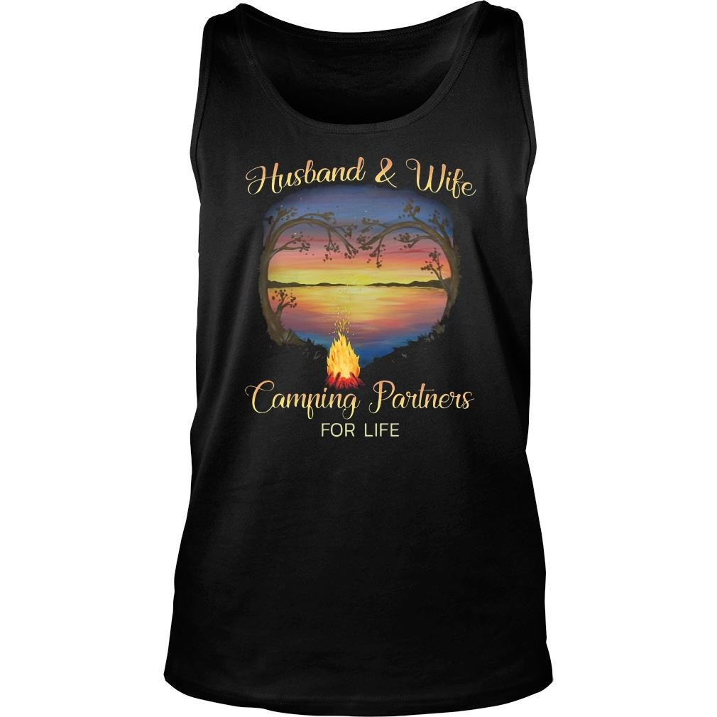 Husband and wife camping partners for life shirt tank top