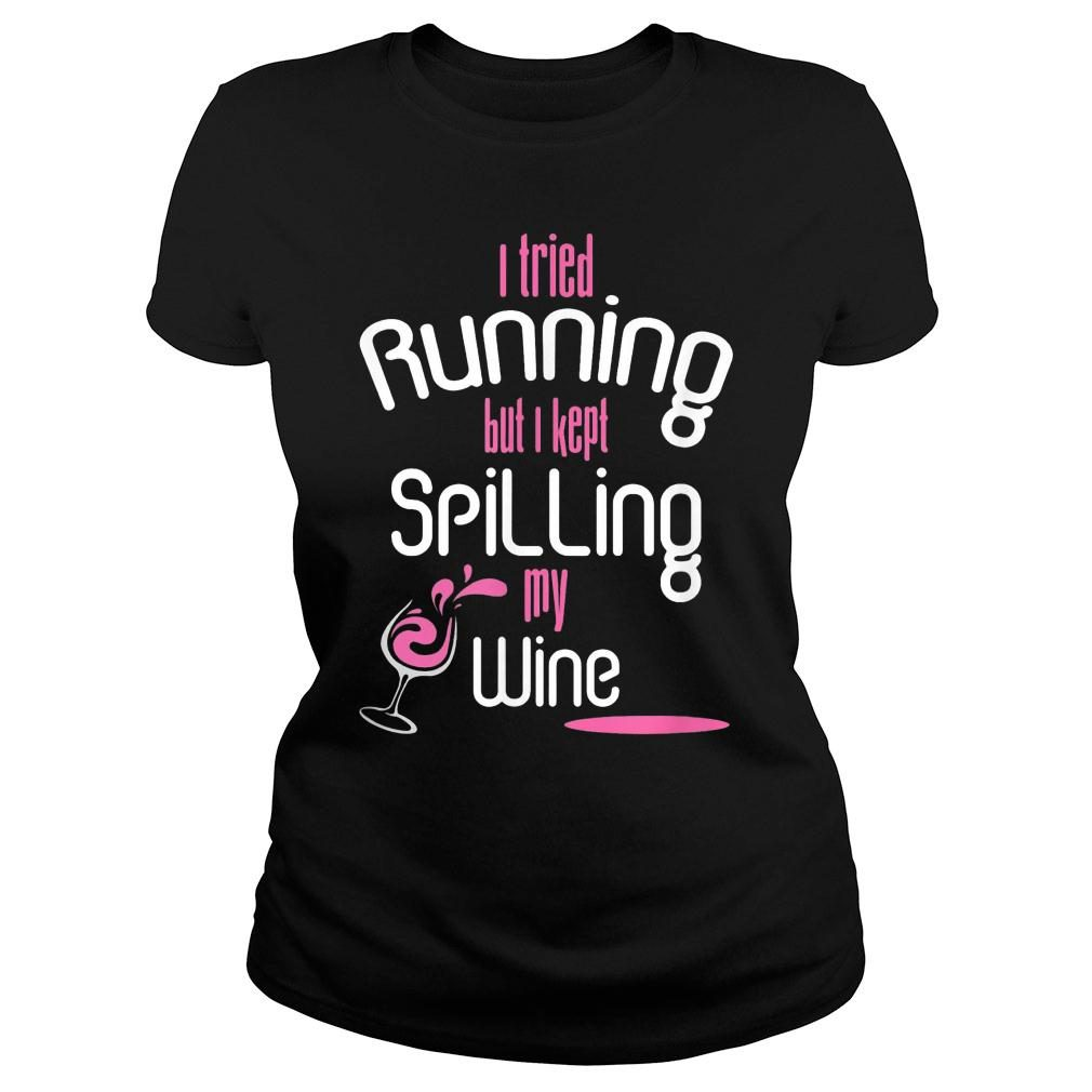 I Tried Running Shirt ladies tee