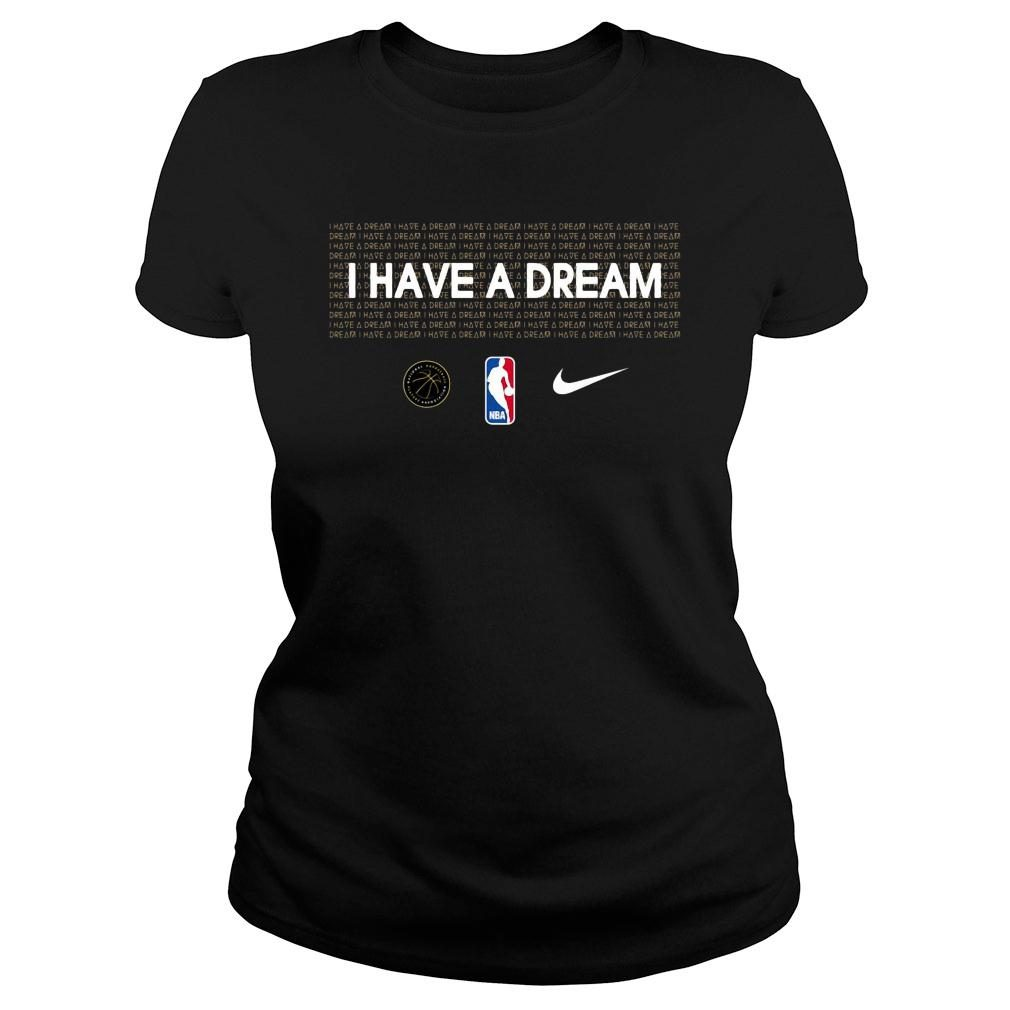 I have a dream NBA mlk shirt ladies tee