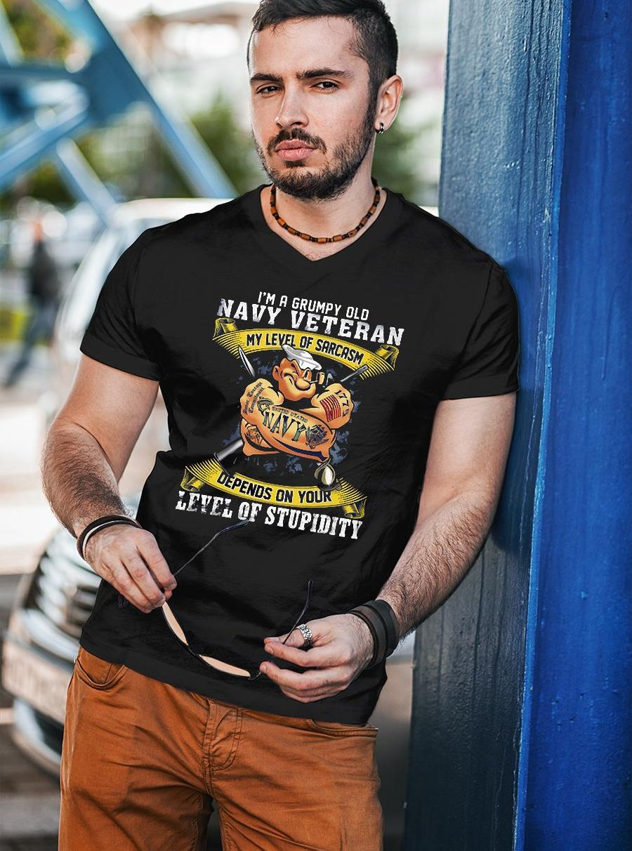 I'm A Grumpy Old Navy Veteran shirt unisex