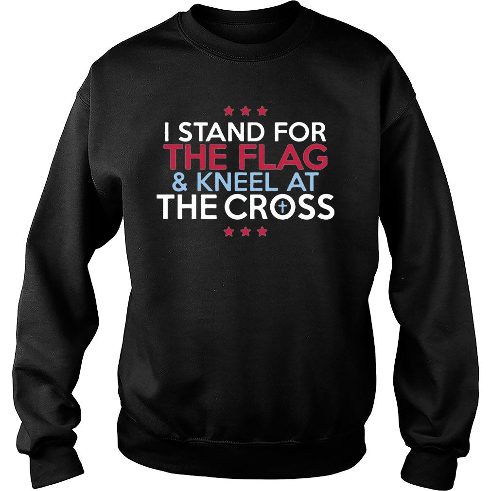Interstate Apparel Men's I stand for the flag and kneel for the cross shirt sweater