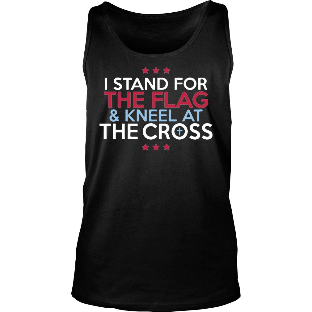 Interstate Apparel Men's I stand for the flag and kneel for the cross shirt tank top