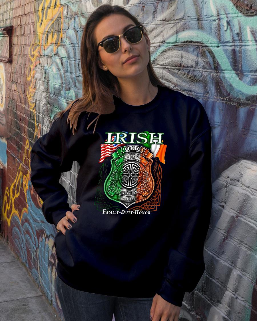 Irish Police To Serve And Protect Elite Breed Family Duty Honor shirt sweater official