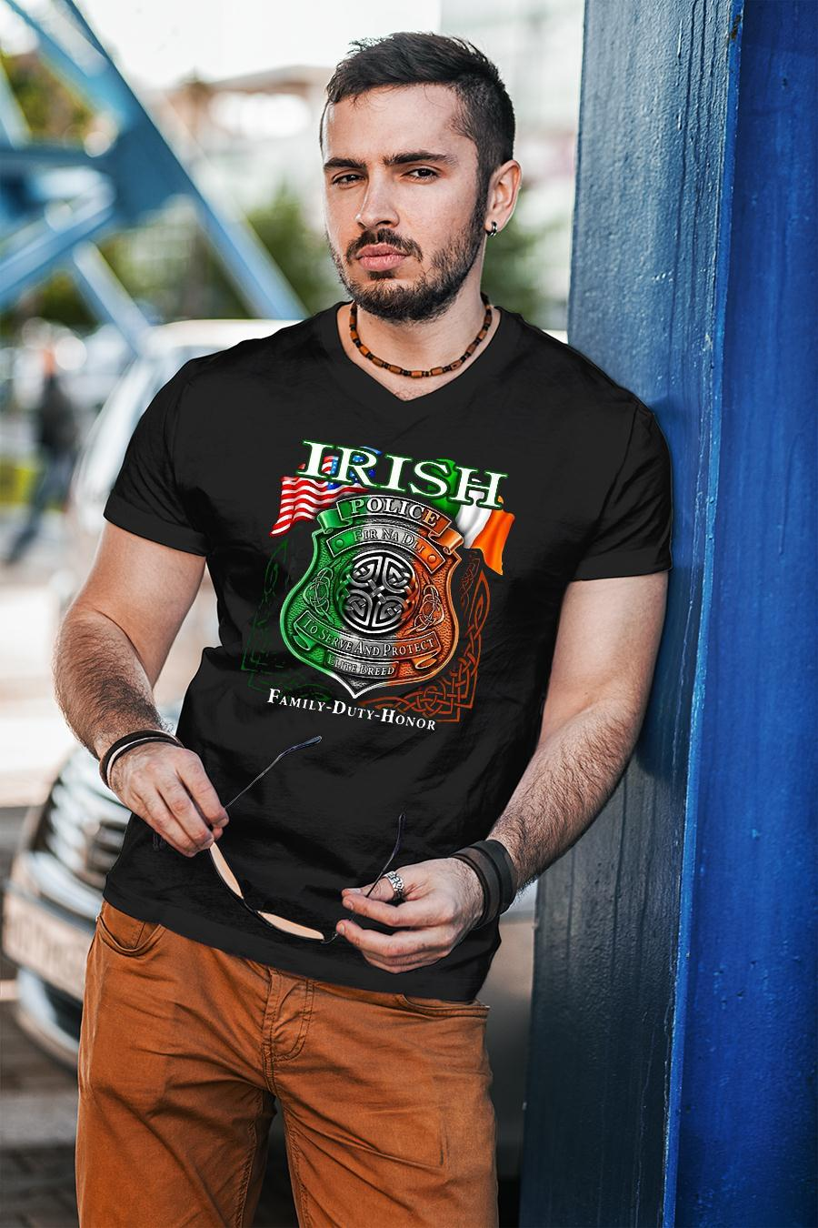 Irish Police To Serve And Protect Elite Breed Family Duty Honor shirt unisex