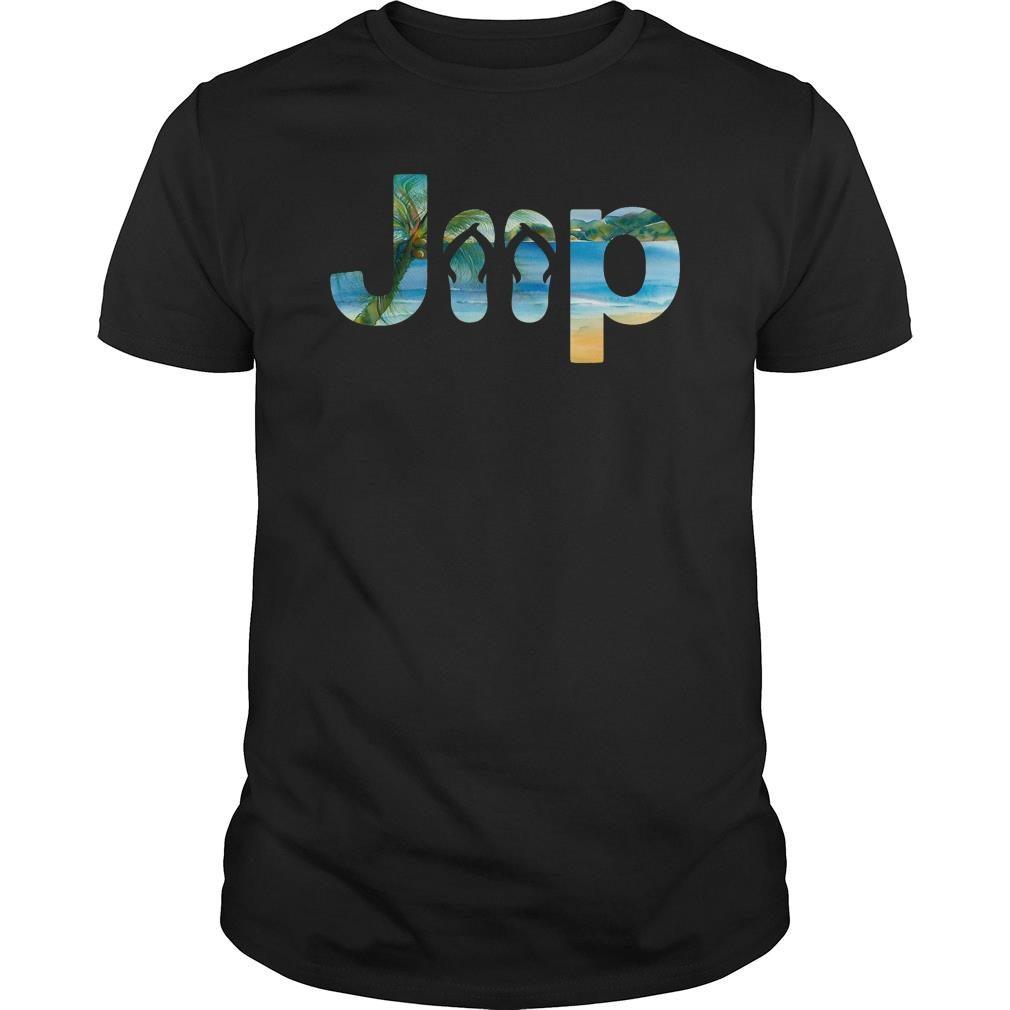 Jeep flip flops shirt