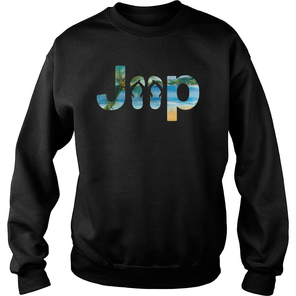 Jeep flip flops shirt sweater