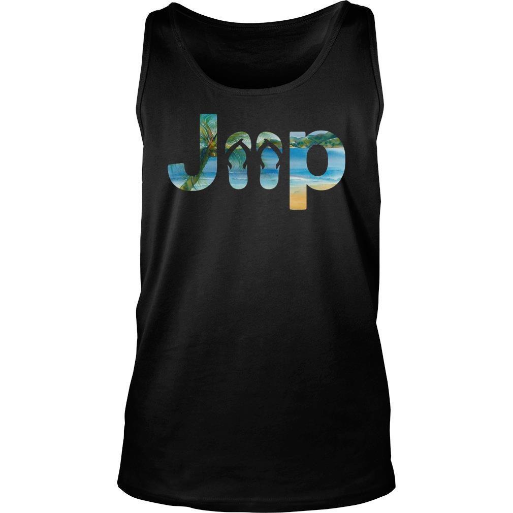 Jeep flip flops shirt tank top