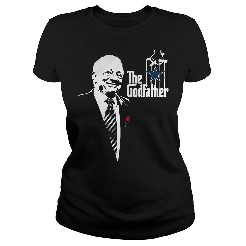 Jerry jones the godfather dallas cowboys shirt ladies tee