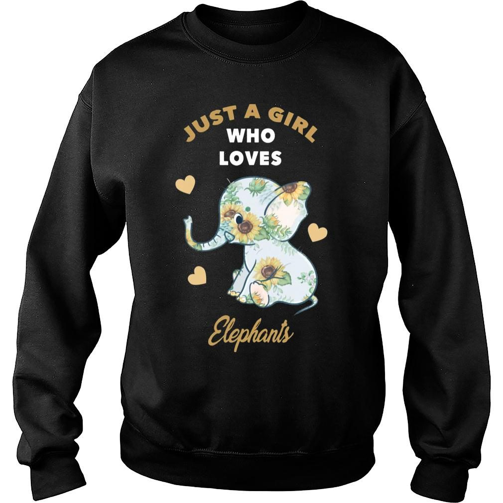 Just A Girl Who Loves Elephants Sunflower Shirt sweater