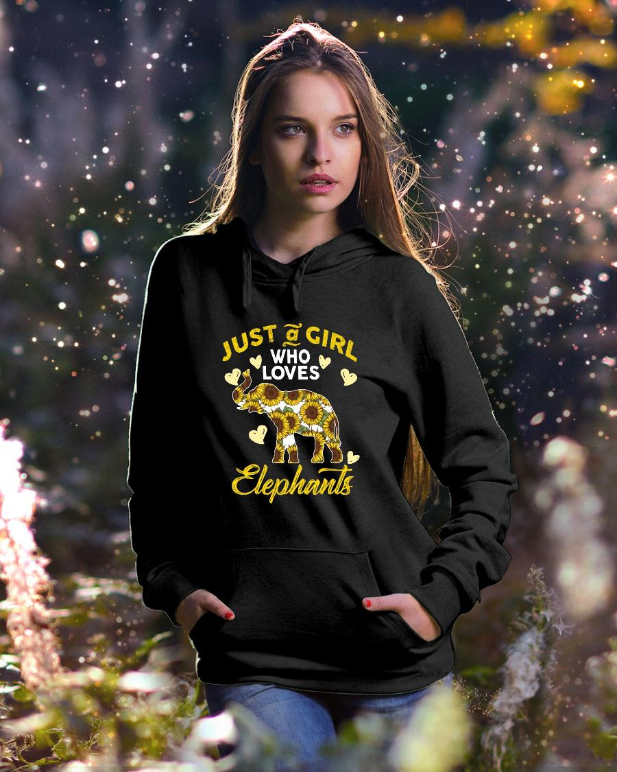 Just A Girl Who Loves Elephants shirt hoodie unisex