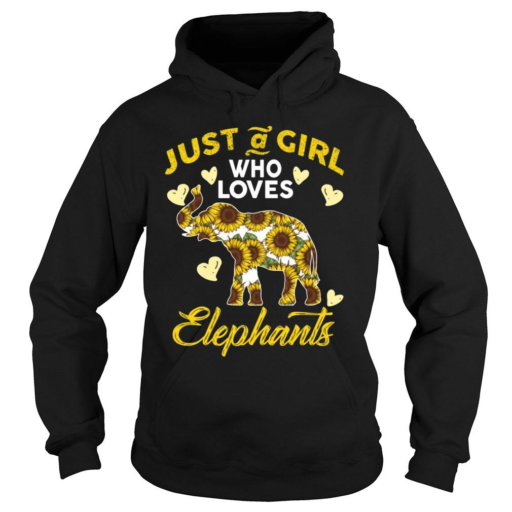 Just A Girl Who Loves Elephants shirt hoodie