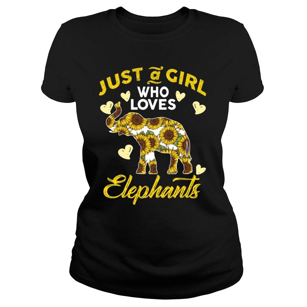 Just A Girl Who Loves Elephants shirt ladies tee