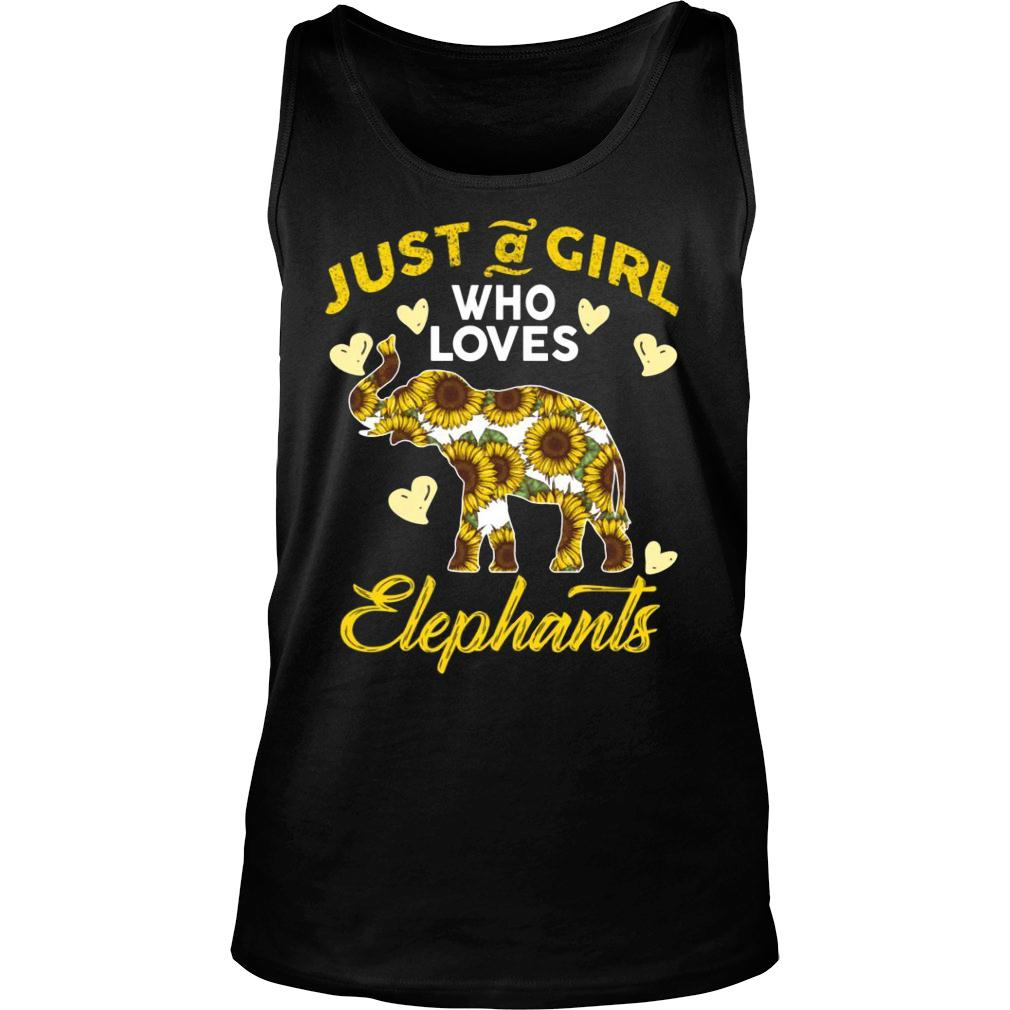 Just A Girl Who Loves Elephants shirt tank top