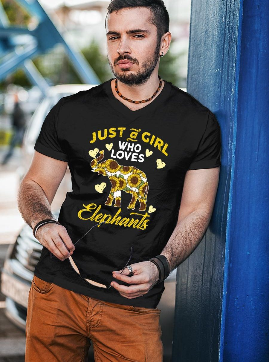 Just A Girl Who Loves Elephants shirt unisex