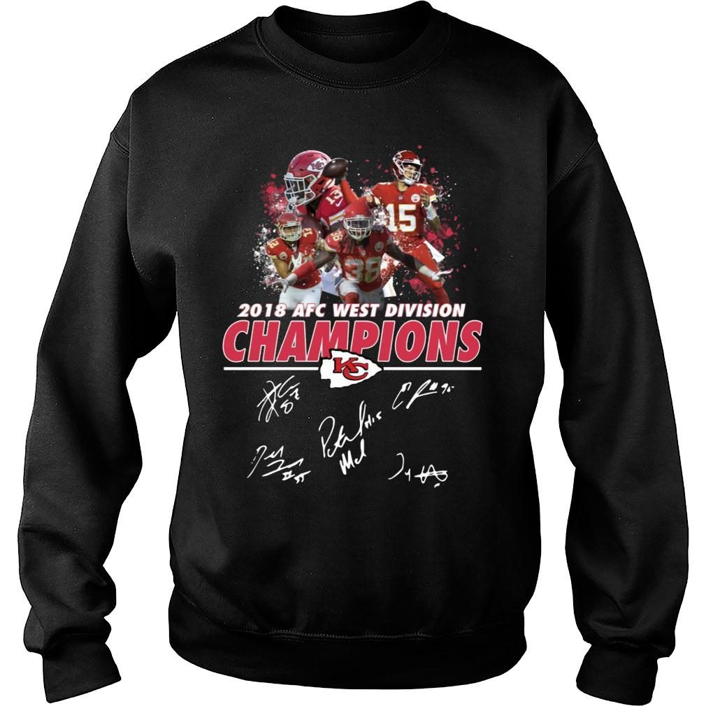Kansas City Chiefs 2018 AFC West Division Champions Shirt sweater
