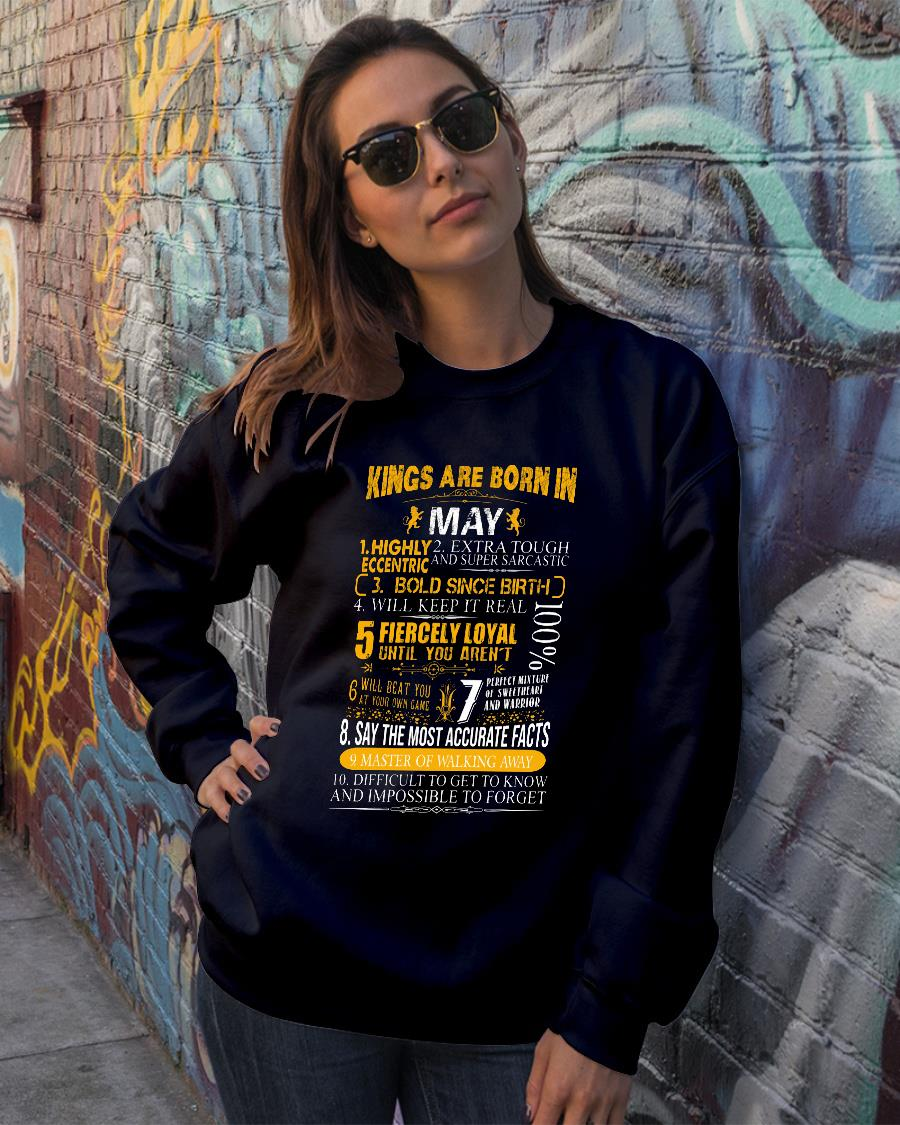 Kings Are Born In May Facts Birthday For Men Tshirt sweater official