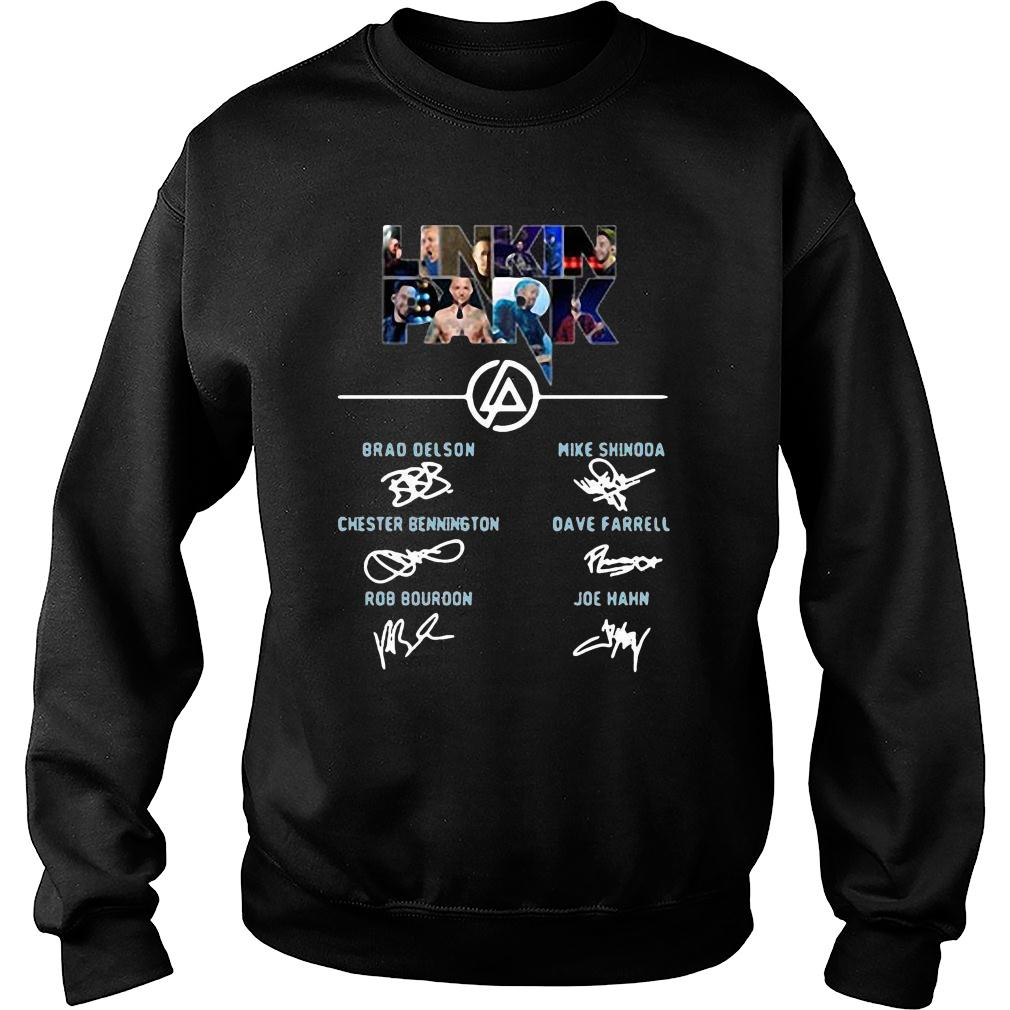 Linkin Park Brad Delson Mike Shinoda Chester Bennington signature shirt sweater