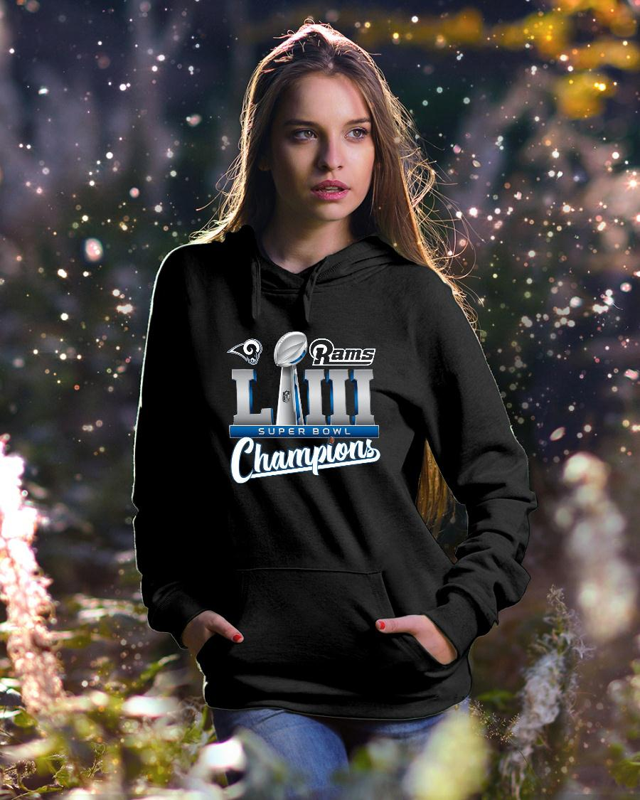 Los Angeles Rams championship super bowl 53 shirt hoodie unisex