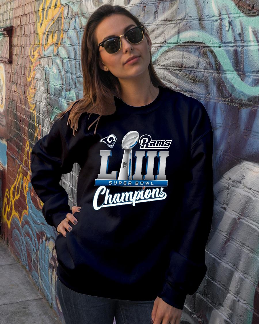 Los Angeles Rams championship super bowl 53 shirt sweater official