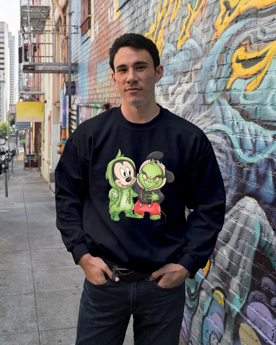 Mickey Mouse and Grinch shirt sweater unisex