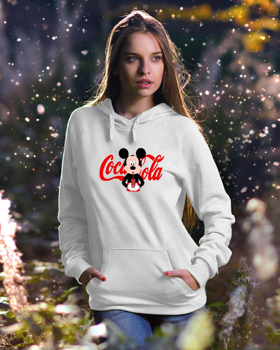 Mickey Mouse drink coca cola shirt hoodie unisex