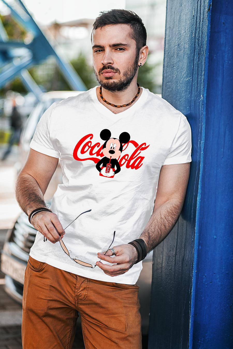 Mickey Mouse drink coca cola shirt unisex
