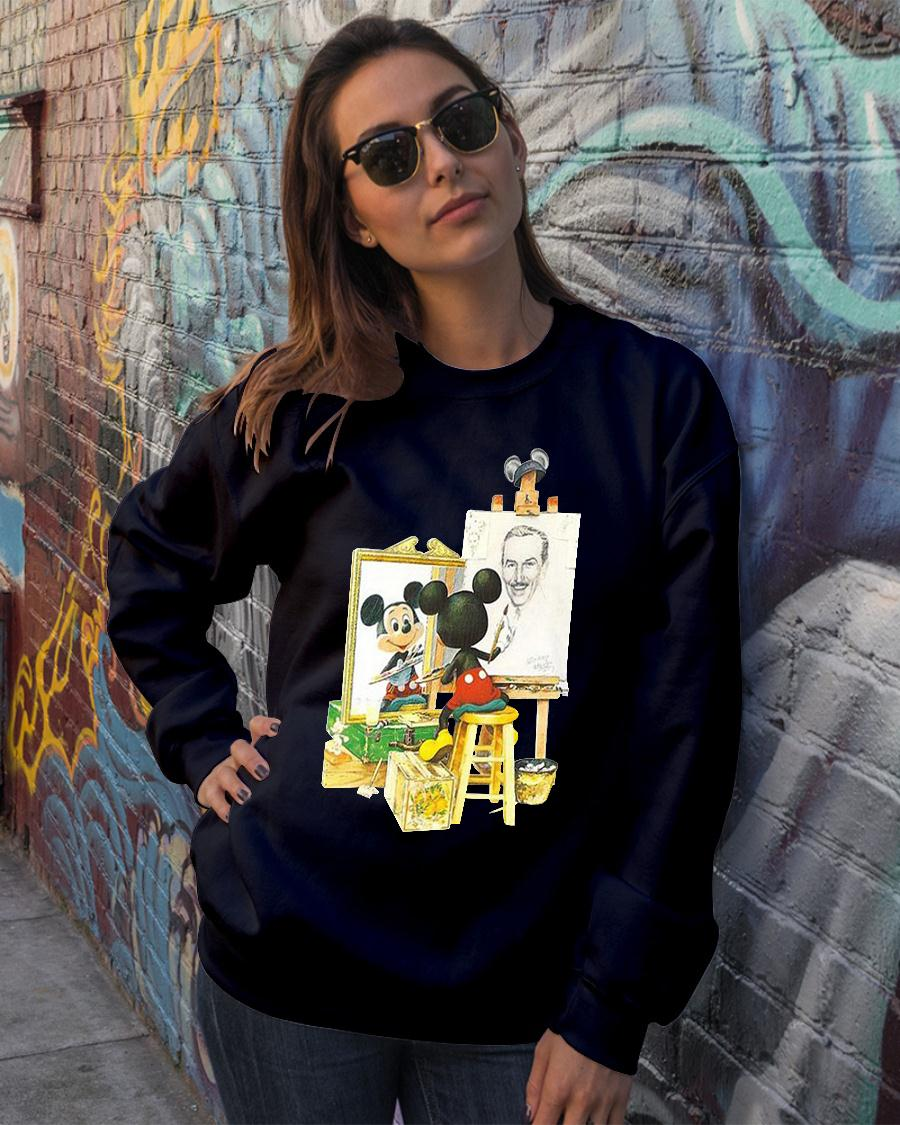 Mickey mouse drawing Walt Disney shirt sweater official