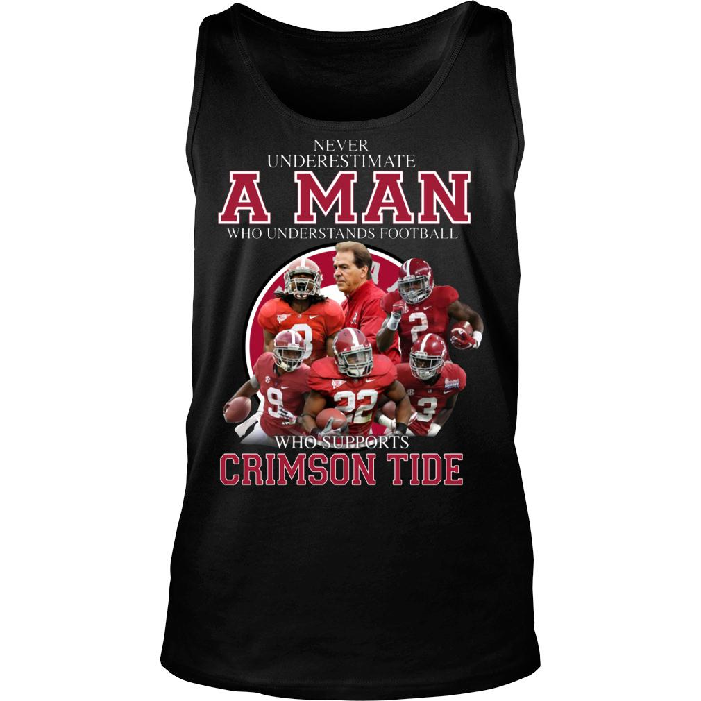 Never Underestimate A Man Who Understands Football And Love Clemson Tgers shirt tank top