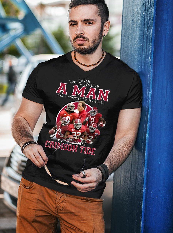 Never Underestimate A Man Who Understands Football And Love Clemson Tgers shirt unisex