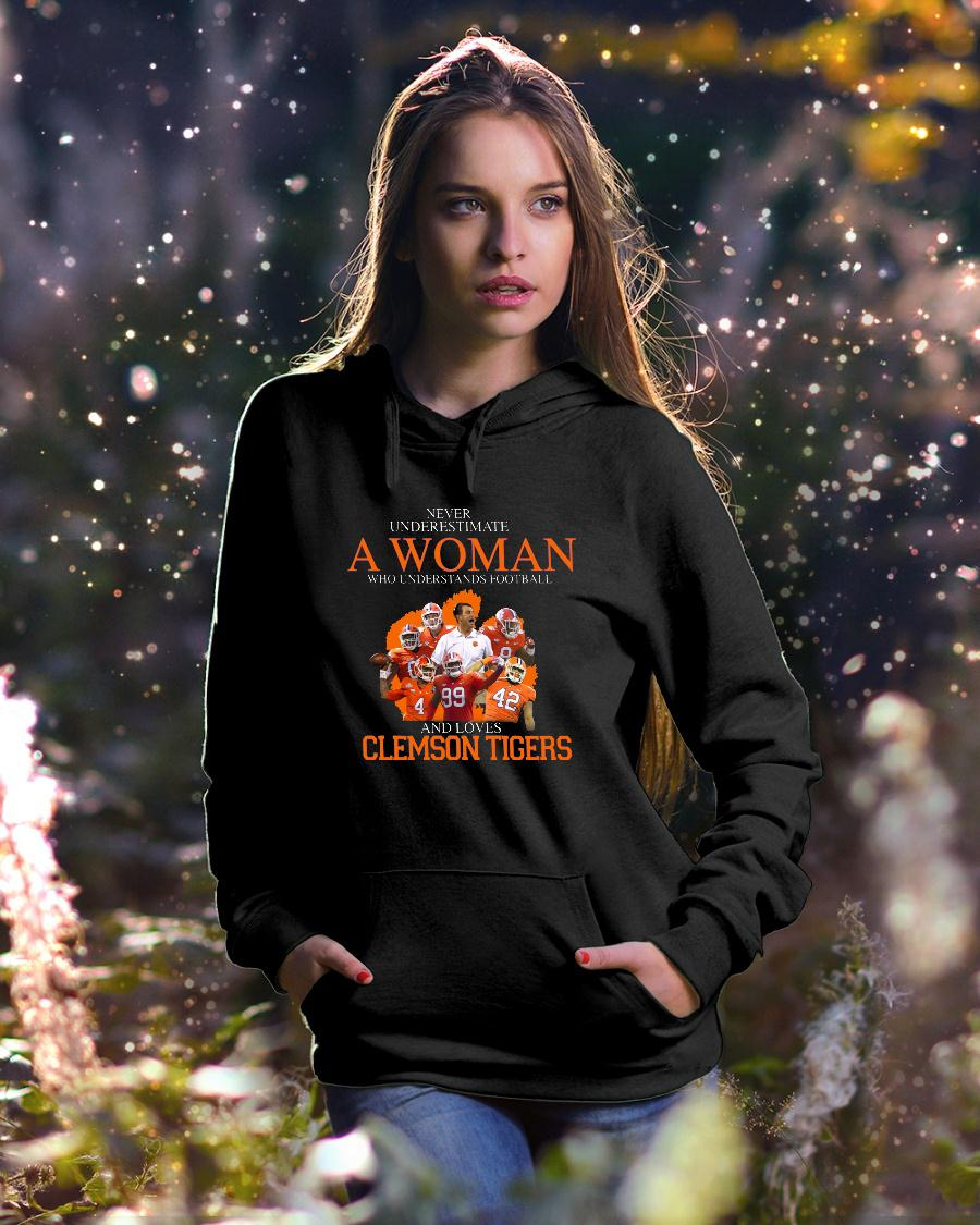 Never Underestimate A Woman Who Understands Football And Love Clemson Tigers shirt hoodie unisex