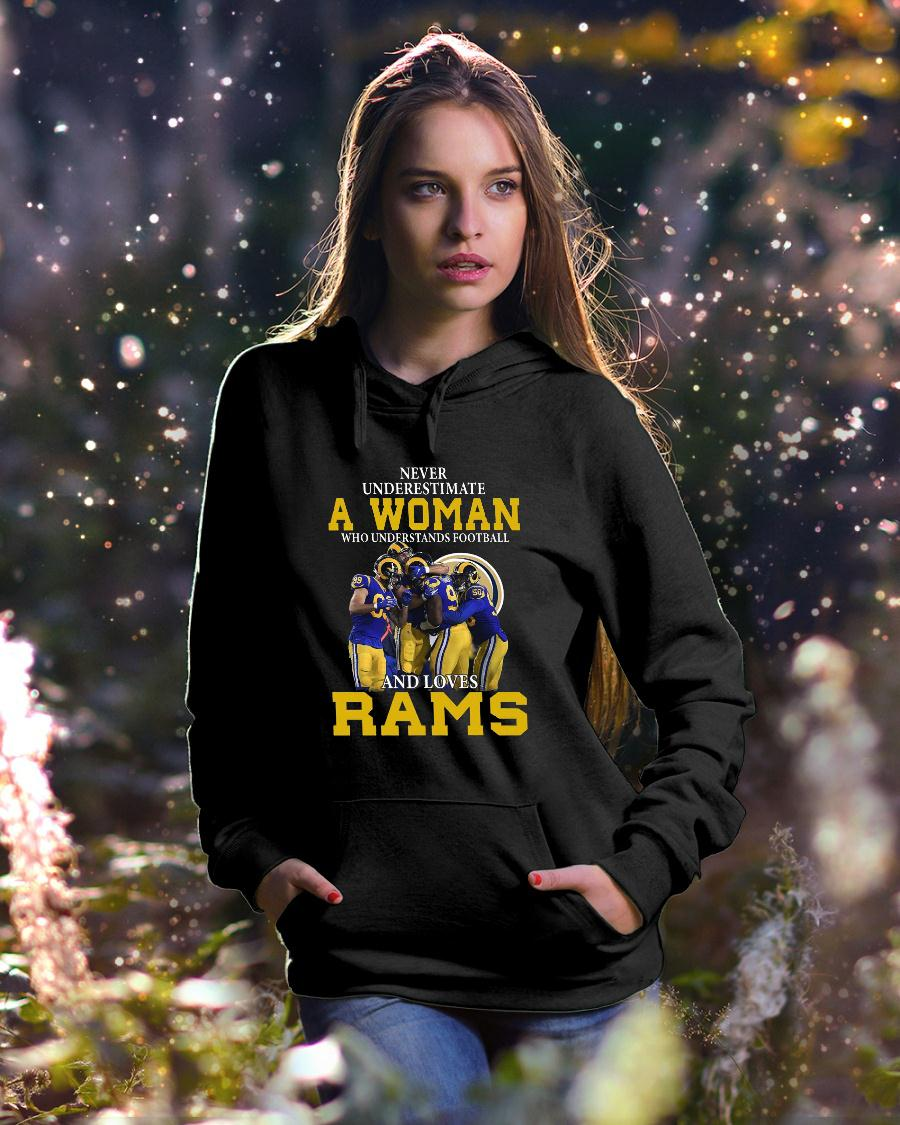 Never Underestimate A Woman Who Understands Football Loves Rams shirt hoodie unisex