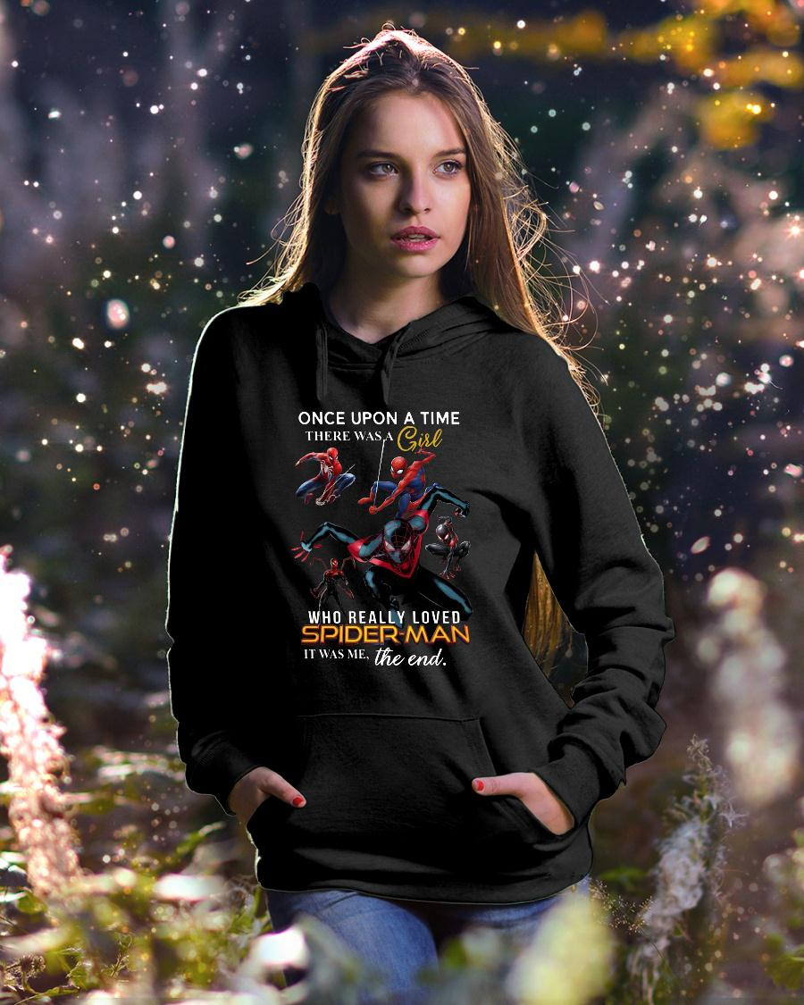 Once Upon A Time There Was A Girl Who Really Loves Spider Man Shirt hoodie unisex