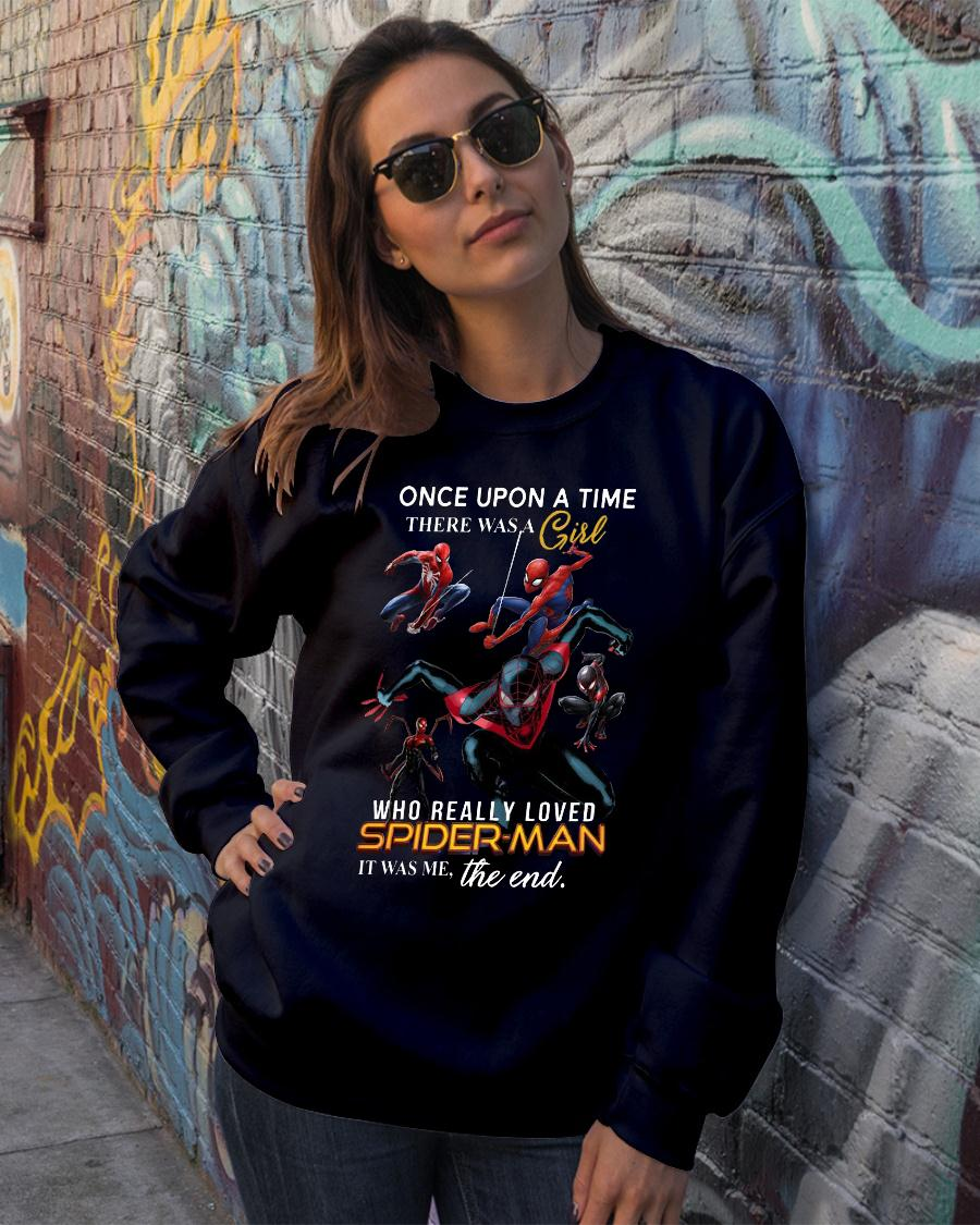 Once Upon A Time There Was A Girl Who Really Loves Spider Man Shirt sweater official