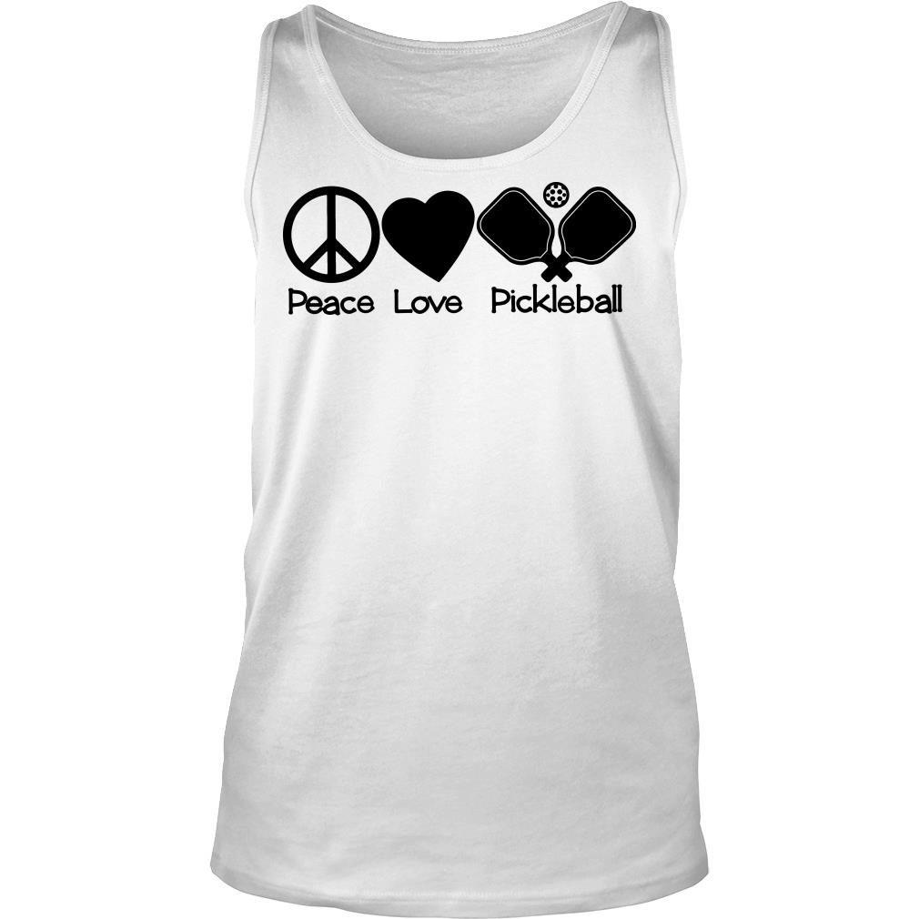 Peace Love Pickleball shirt tank top
