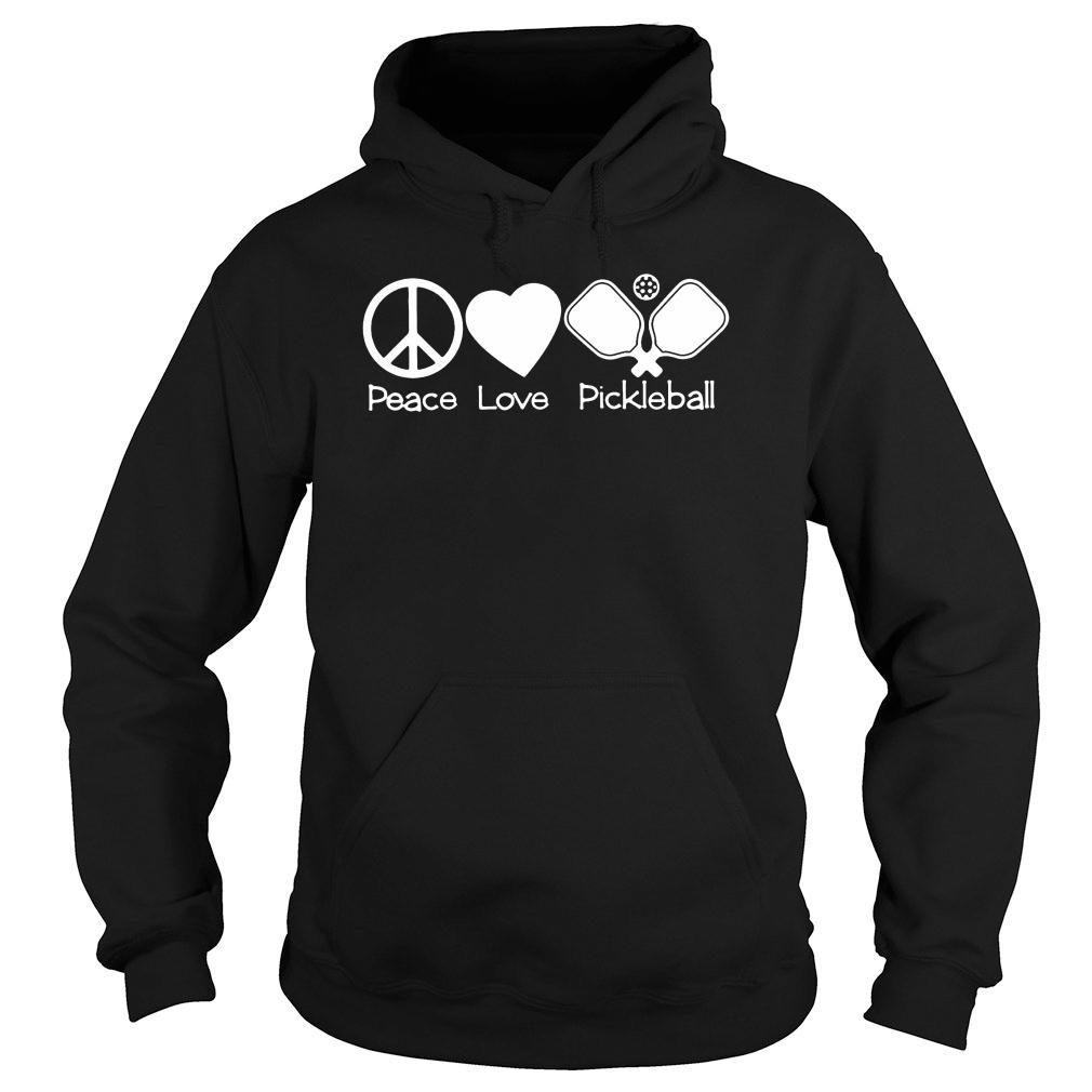 Peace love pickleball t shirt hoodie