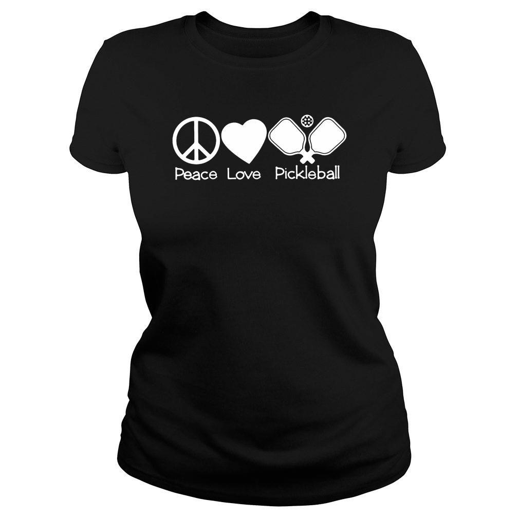 Peace love pickleball t shirt ladies tee