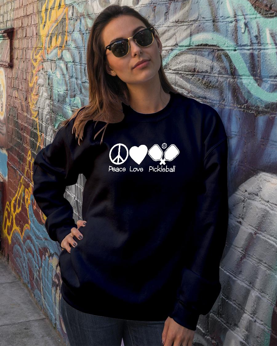Peace love pickleball t shirt sweater official