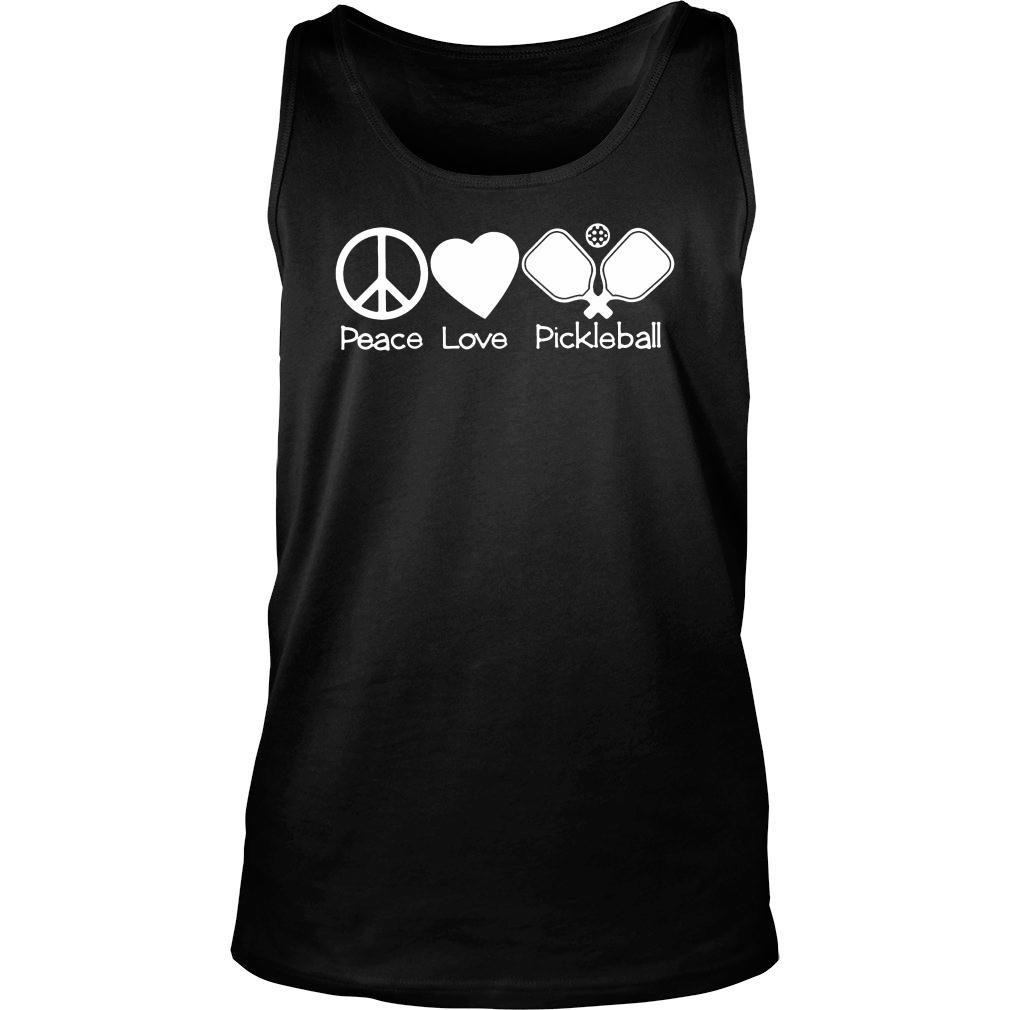 Peace love pickleball t shirt tank top