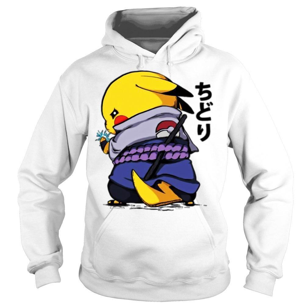 Pikachu Sasuke Naruto Chidori Shirt hoodie