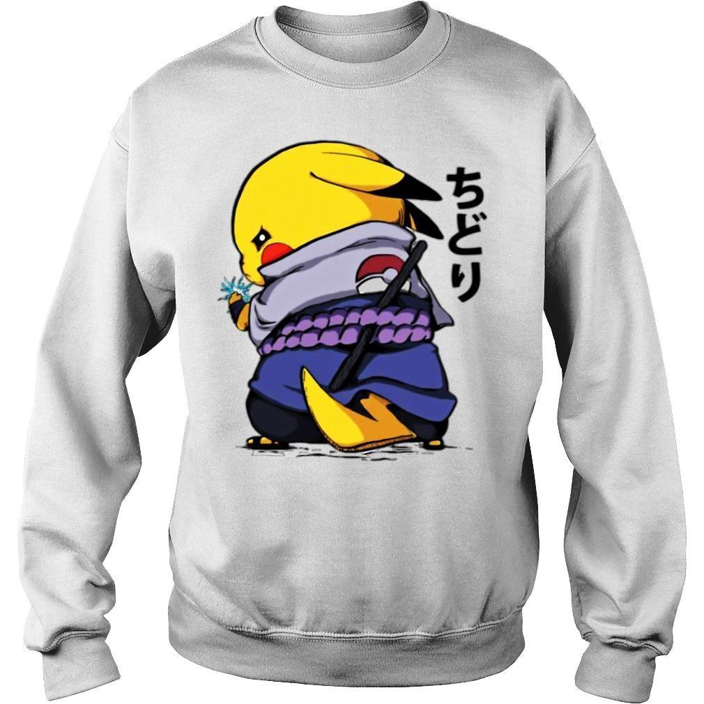 Pikachu Sasuke Naruto Chidori Shirt sweater