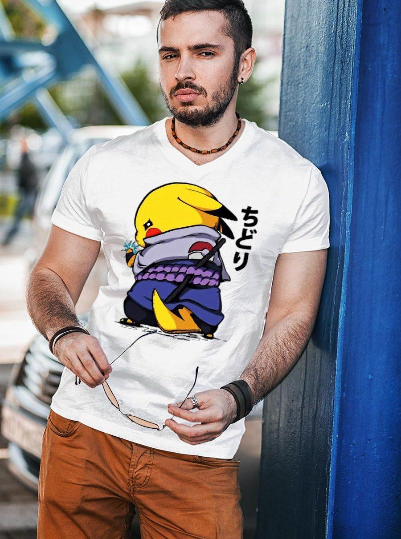 Pikachu Sasuke Naruto Chidori Shirt unisex
