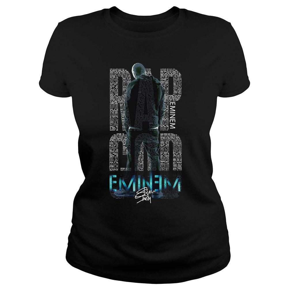 Rap Eminem god eminem shirt ladies tee